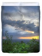 The Blue Ridge Mountains Duvet Cover by Debra and Dave Vanderlaan