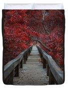 The Boardwalk Duvet Cover by Douglas Barnard