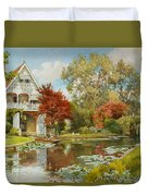 The Boathouse Duvet Cover by Alfred Parsons