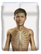 The Bones Within The Body Pre-adolescent Duvet Cover