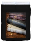 The Books Duvet Cover by David and Carol Kelly