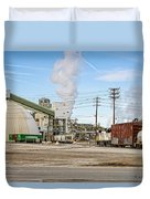 The Borax Plant And Locomotive Duvet Cover
