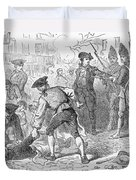 The Boston Massacre, March 5th 1770, Engraved By A. Bollett Engraving B&w Photo Duvet Cover