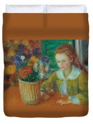 The Breakfast Porch Duvet Cover by William James Glackens
