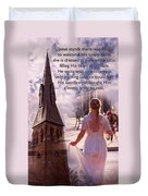 The Bride Of Christ Poem By Kathy Clark Duvet Cover