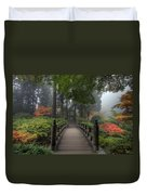 The Bridge In Japanese Garden Duvet Cover