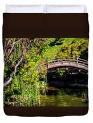 The Bridge In The Japanese Garden Duvet Cover