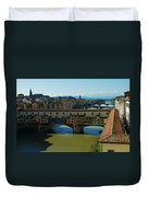 The Bridges Of Florence Italy Duvet Cover
