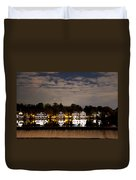 The Bright Lights Of Boathouse Row Duvet Cover