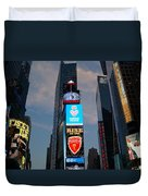 The Bright Lights Of Times Square Duvet Cover