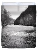 The Broad River 1 Bw Duvet Cover