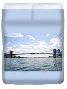 The Brooklyn Bridge And East River Duvet Cover
