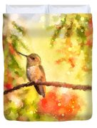 The Bubbly World Of A Hummingbird Duvet Cover