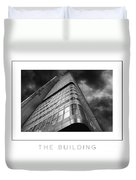The Building Poster Duvet Cover