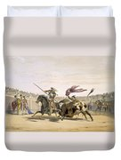 The Bull Following Up The Charge, 1865 Duvet Cover