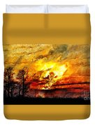 The Burning - Digital Paint Duvet Cover