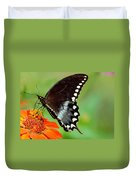The Butterfly And The Zinnia Duvet Cover
