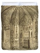 The Cabinet, Engraved By T. Morris Duvet Cover