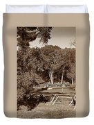 The Cabins Duvet Cover by Skip Willits
