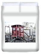 The Caboose Duvet Cover by Bill Cannon