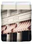 The Cafe Awnings At Chautauqua Institution New York  Duvet Cover