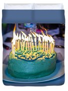The Cake Is On Fire Duvet Cover