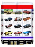 The Camaro Poster Duvet Cover