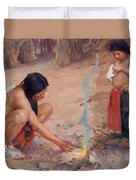 The Campfire Duvet Cover