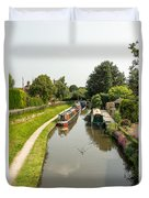 The  Trent And Mersey Canal At Alrewas Duvet Cover
