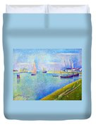 The Canal At  Gravelines Duvet Cover