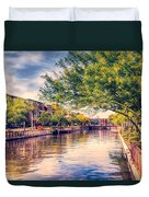 The Canal In Downtown Scottsdale Duvet Cover