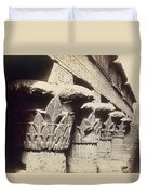The Capitals Of The Portico Of The Temple Of Khnum In Esna Duvet Cover