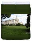 The Capitol Hill View Washington Dc Duvet Cover