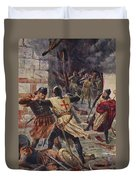 The Capture Of Constantinople Duvet Cover