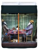 The Card Players Victor Colorado Img 8665 Duvet Cover
