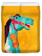 The Carousel Horse Duvet Cover
