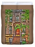 The Carrie Bradshaw Stoop From Sex And The City Duvet Cover