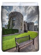 The Castle Bench Duvet Cover by Adrian Evans