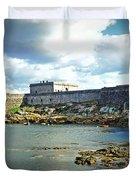 The Castle Fort On The Harbor Duvet Cover