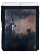 The Castle In The Moonlight  Duvet Cover