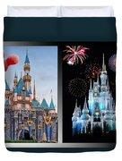 The Castles Of Disney 2 Panel Vertical Duvet Cover