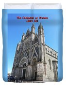The Cathedral At Orvieto Duvet Cover