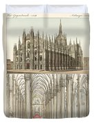 The Cathedral Of Milan Duvet Cover