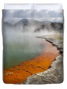 The Champagne Pool At Wai O Tapu Duvet Cover