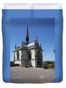 The Chapel Of Saint-hubert Amboise Duvet Cover