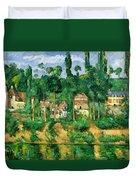 The Chateau De Medan, C.1880 Duvet Cover