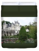 The Chateau's Towers View Duvet Cover