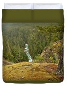 The Cheakamus River Gorge Duvet Cover