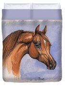 The Chestnut Arabian Horse 1 Duvet Cover