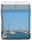 The Chicago Lighthouse Duvet Cover by Christine Till